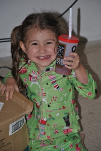 With her Special Drink (Black Cherry Smoothie!)