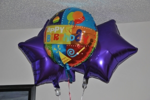 BALLOONS!  (Went is fascinated by them!)