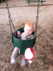 Swinging with my Sock Monkey!