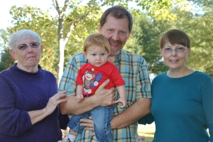 Mimi, Papa, Aunt M and Monkey-Boy