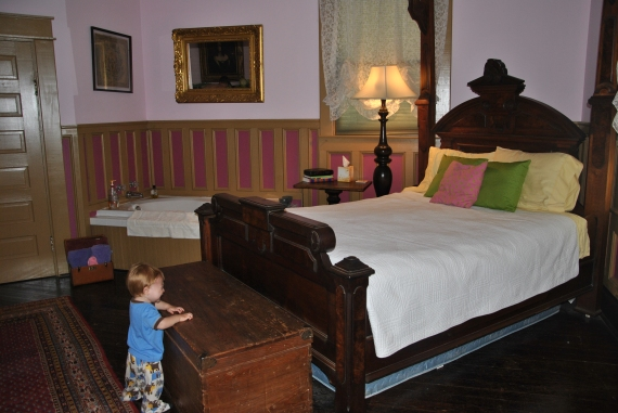 The Royal Room Bed (the trunk at the end was perfect for storing suitcases and other gear.)