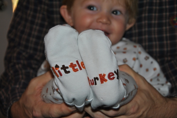 That's my Little Turkey!  (With CLEAN FEET!)