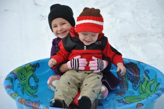 GO and Went sledding :)