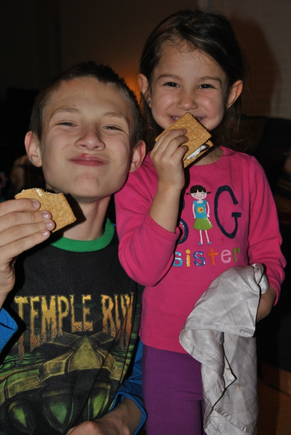 Loving the Smores.