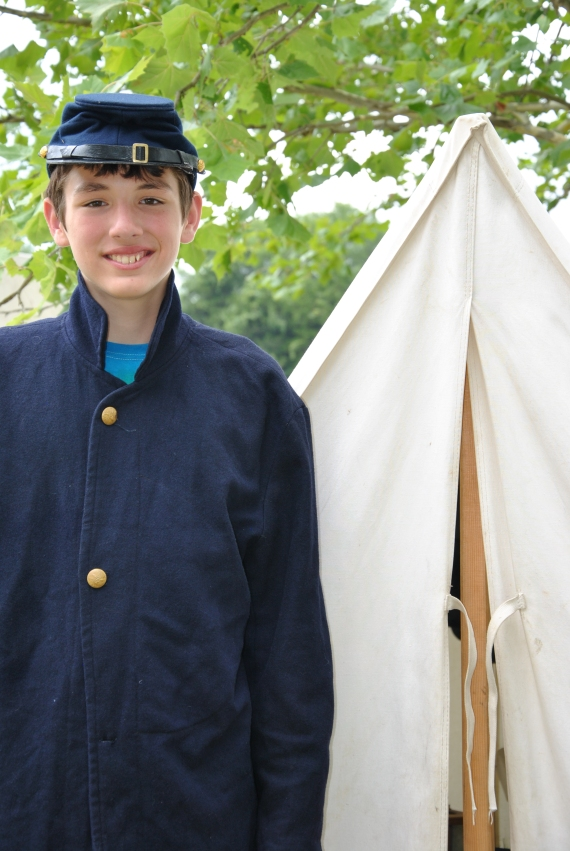 B10 in Civil War garb - he was lucky, the jacket actually fit him!