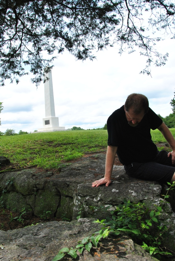The monument in the back was erected by the railroad.  The Railroad ran Civil War tours that actually stopped and let people out to visit Civil War sites.  Discounts were given to Civil War widows (on both sides).