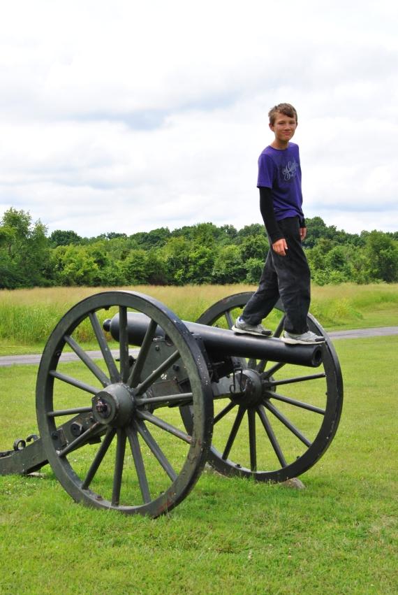 Again, on a cannon.