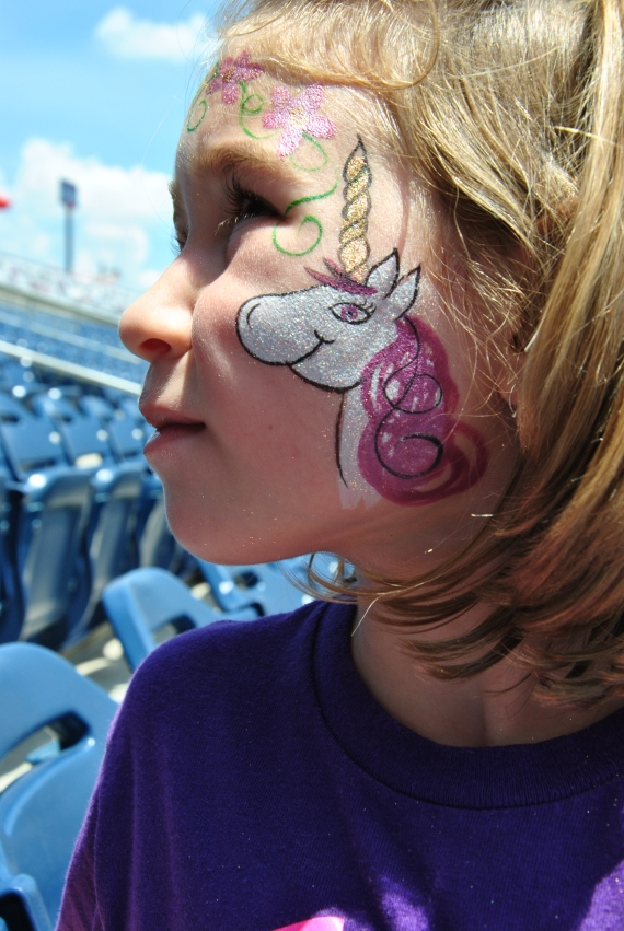 Sister Sheep's pretty facepaint.