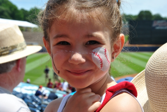 <3 this girly's Baseball Face Paint!