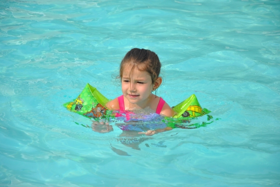 My girly needs swim lessons!