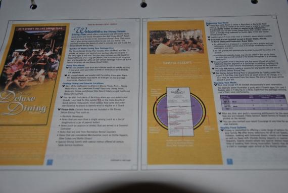 Deluxe Dining Brochure (download from WDW website)