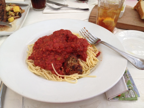 My Allergy Meal: Spaghetti and Turkey Meatballs with Marinara Sauce