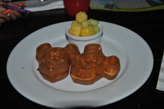 My Mickey Waffles (the kids plate comes with three).