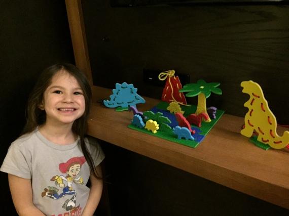 "Her Dinosaur ""Scene"""