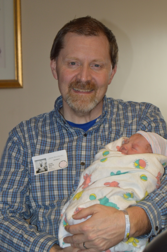 Papa and his Baby Girl - right after she was born.