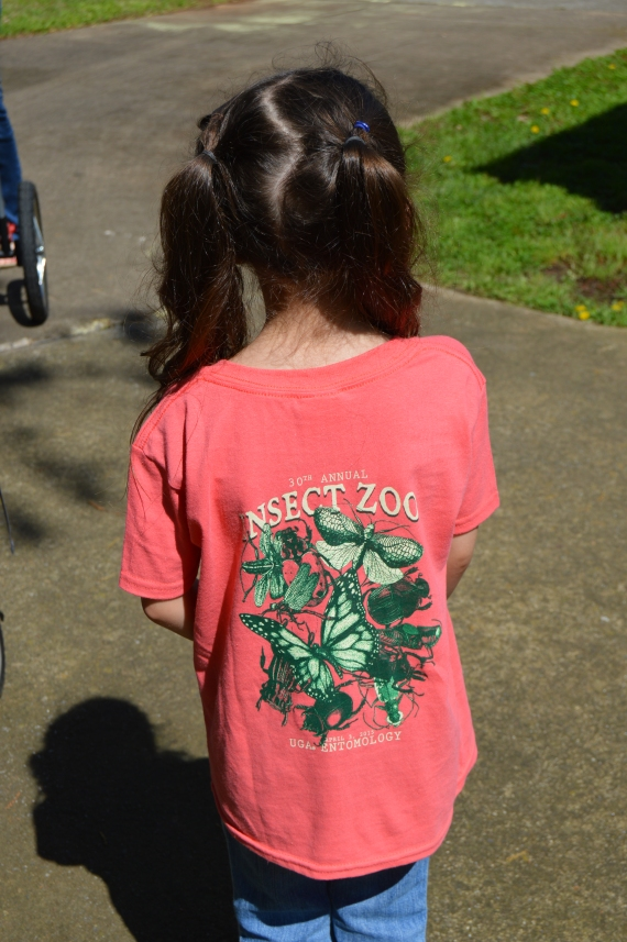 Little Girl got an Entomology Zoo shirt, too!